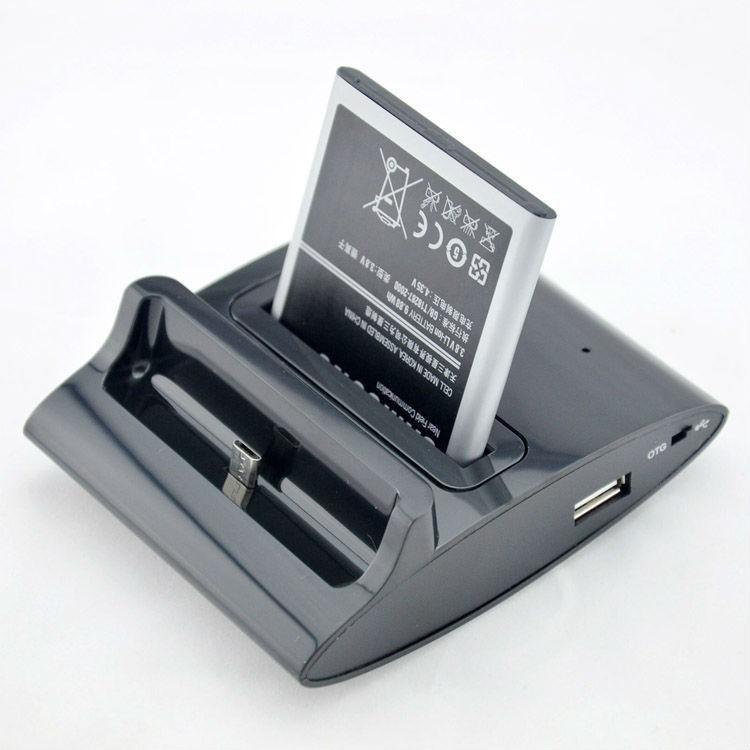 עדכני מתנה + Samsung Galaxy S4 i9500 OTG מטען שולחני לגלקסי ולסוללה כולל AS-73