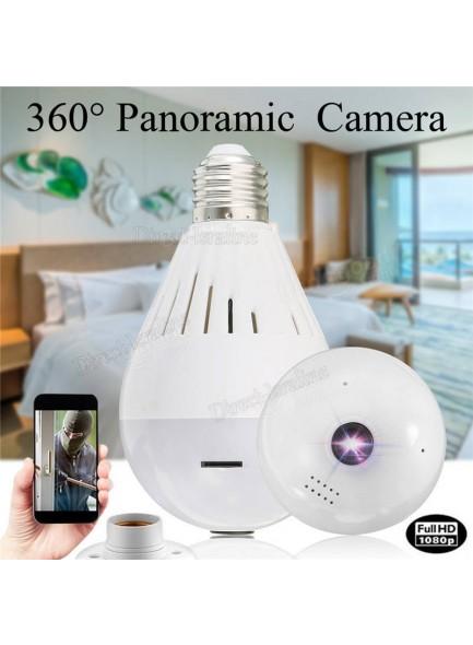 D2986 1080P מצלמת אבטחה 360 מעלות בעיצוב נורה בשליטה מרחוק *במלאי מיידי*