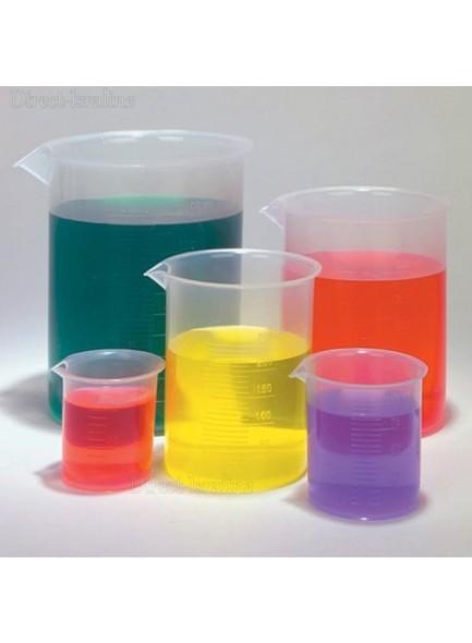סט 5 כוסות מידה מפלסטיק למעבדה D3953 *במלאי מיידי*