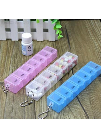 שלוש קופסאות לתרופות עם 7 תאים כל אחת לזמני בוקר/צהריים/ערב לקיחת כדורים D1506  *במלאי מיידי *