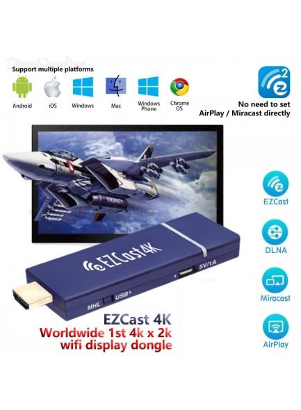 סטרימר אלחוטי EZCast 4K DLNA Mirascreen Airplay Support 4 to 1 Split Screens *במלאי מיידי*