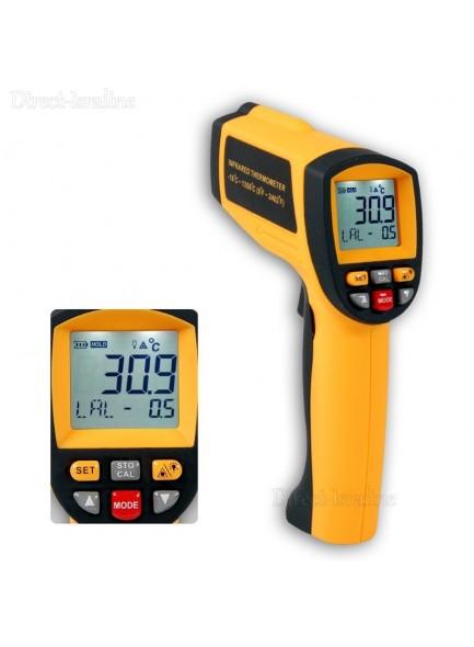 מד חום עד 1350°C דיגיטלי אלחוטי עם קרן לייזר BENETECH GM1350 *במלאי מיידי*
