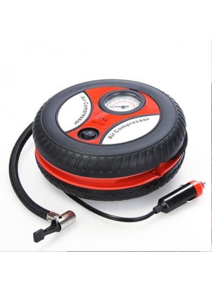 מיני קומפרסור/משאבה חשמלית מדחס בעיצוב צמיג עם חיבור 12 וולט למצת הרכב