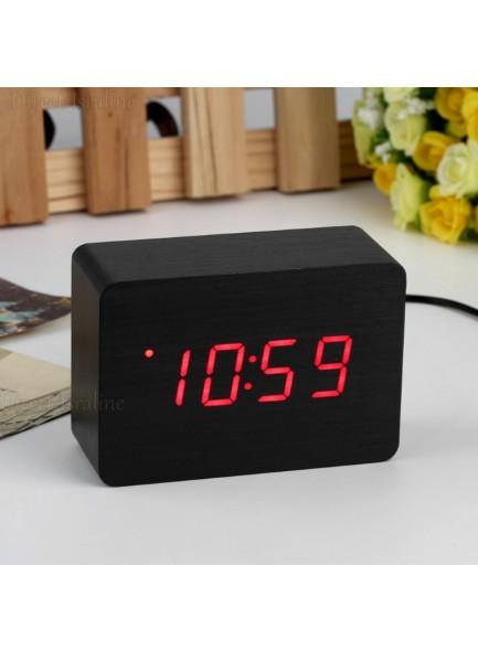 שעון מעורר מעוצב דמוי עץ 4A22 *במלאי מיידי*