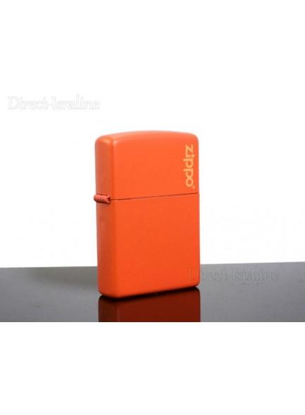 מצית זיפו Zippo 231ZL Zippo Logo Orange Matte *במלאי מיידי*