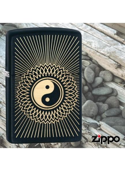 מצית זיפו Zippo 29423 Yin & Yang Black Matte *במלאי מיידי*