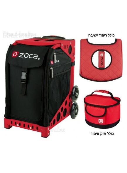 תיק טרולי מקצועי למאפרות 29 ליטר כולל ריפוד ישיבה ותיק איפור ZUCA Obsidian *במלאי מיידי*
