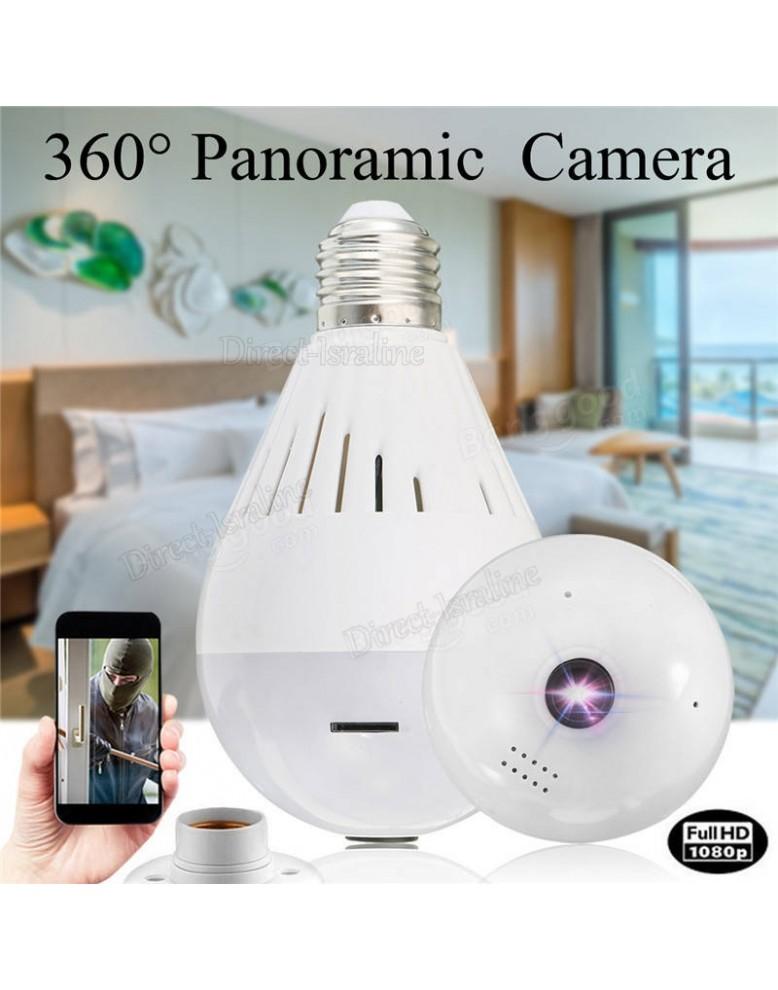 מתוחכם מתנה + D2986 1080P מצלמת אבטחה 360 מעלות בעיצוב נורה בשליטה מרחוק CA-45