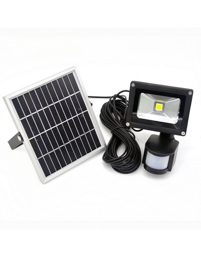 מאוד תאורה סולארית עם זרקור 10 וואט נטען סולארית וחיישן תנועה EJ-67