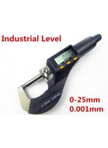 מיקרומטר מד עובי דיגיטלי 0-25mm/0.001mm דגם MT-35 *במלאי מיידי*