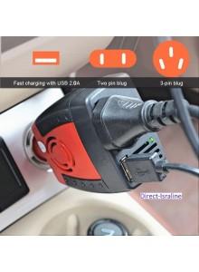 ממיר מתח בהספק 150W / 200W הספק עבודה קבוע לרכב בחיבור לשקע מצית הרכב D5348