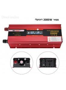 ממיר מתח עם תצוגה דיגיטלית בהספק 900W / 2000W הספק עבודה קבוע לרכב בחיבור למצבר SDB-2000A