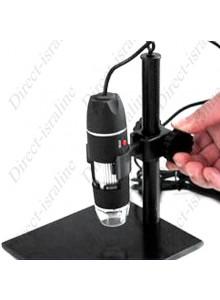 מיקרוסקופ דיגיטלי USB למחשב וסמארטפון מגדיל פי 800 עם מעמד/משטח עבודה *במלאי מיידי*