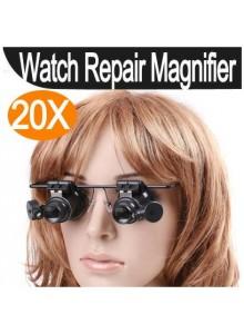 לופה משקפיים עם תאורה הגדלה פי 20