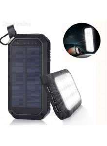 מטען סולארי אוניברסאלי 8000Mah עמיד למים מכות ואבק וכולל 3 יציאות USB פנס 21 לד וו תליה D3211 *במלאי מיידי*