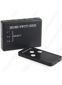 שלוש כניסות עם שלט ואוטומט HDMI בורר/מפצל
