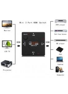 בורר מפצל HDMI 1.4b 3 כניסות D5260 *במלאי מיידי*