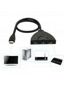 בורר מפצל 3D HDMI 3 כניסות תומך HDCP לממירים *במלאי מיידי*