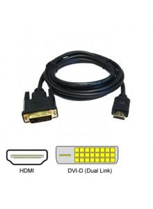 כבל מחיבור DVI לחיבור HDMI באורך 5 מטר