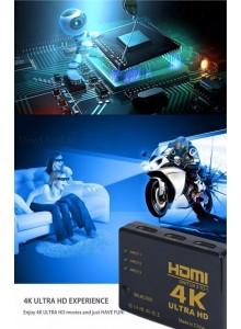 בורר מפצל HDMI 4K D5261 3 כניסות D5261 *במלאי מיידי*