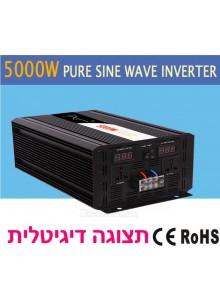 ממיר מתח בהספק 5000W סינוס טהור PURE SINE SP-5000L לרכב עם תצוגה דיגיטלית