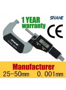 מיקרומטר מד עובי דיגיטלי 25-50mm/0.001mm 5202-50 *במלאי מיידי*