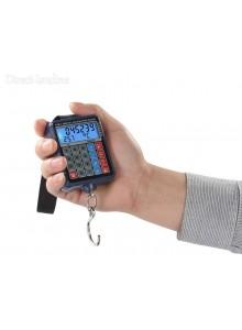"""משקל תליה דיגיטלי עם 6 פונקציות עד 50 ק""""ג בדיוק של 10 גרם למזוודות וציוד D1881"""
