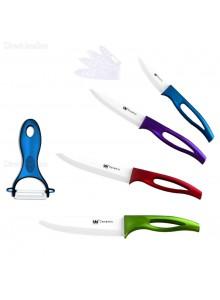 *סט סכינים קרמיים צבעוניים 5 חלקים ונדנים דגם 683 *במלאי מיידי
