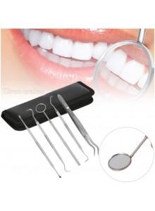 ערכת 5 כלים בנרתיק לאבחון היגיינה וניקוי שיניים וחניכיים JM01675 *במלאי מיידי*