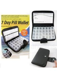 אירגונית קופסא לתרופות עם 28 תאים בנרתיק מהודר  *במלאי מיידי*