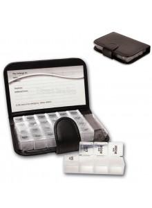 אירגונית קופסא לתרופות עם 28 תאים בנרתיק מהודר D5471  *במלאי מיידי*