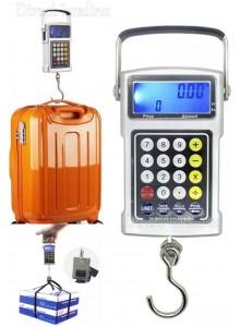 """משקל תליה דיגיטלי עם 7 פונקציות עד 50 ק""""ג בדיוק של 20 גרם למזוודות וציוד DG-01"""