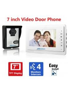 מערכת אינטרקום וידאו ביתית עם מסך 7 אינץ צבעוני ומצלמת HD HS-816MA *במלאי מיידי*