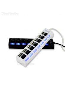 מפצל USB  עם 7 יציאות ומתג הפעלה לכל יציאה *במלאי מיידי*
