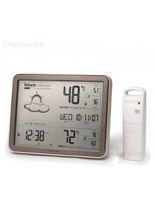 תחנת מזג אוויר עם משדר חוץ כולל חיזוי מזג האוויר, טמפרטורה, לחות, שעון אטומי ותאריך AcuRite 75077A3M *במלאי מיידי*