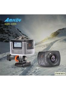 AMKOV AMK-100S WIFI Full HD מצלמת אקסטרים 360 מעלות