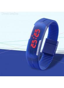 שעון לד עם רצועה מגנטית ניתנת להתאמה במבחר צבעים D3206 *במלאי מיידי*