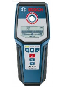 גלאי מתכות וכבלי חשמל בקירות Bosch GMS120