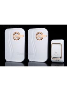 פעמון אלחוטי אחד/או יותר עם לחצן אחד/או יותר מופעל סוללות באיכות פרימיום ארוך טווח מעוצב לדלת 36 מנגינות CACAZI K03DC *במלאי מיידי*