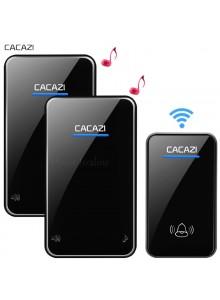 פעמון אלחוטי ארוך טווח לדלת 48 מנגינות עם לחצן אחד או יותר ופעמון אחד או יותר CACAZI A8-AC *במלאי מיידי*