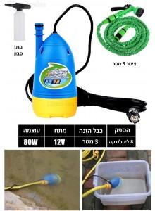 מכונת שטיפה לרכב בלחץ גבוה בחיבור לשקע מצית הרכב D3342 *במלאי מיידי*