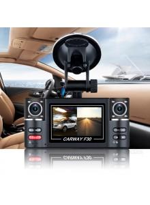 מצלמה HD 1080P לרכב עם 2 עדשות Carway F30 *במלאי מיידי*
