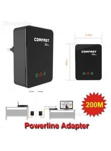 מתאם רשת על חשמל 2 יחידות - Powerline Home Plug COMFAST CF-WP200M