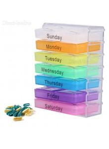 אירגונית קופסא לתרופות עם 7 תאים יומיים ל-4 מועדי תרופות D1254 *במלאי מיידי*