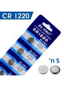 מארז 5 סוללות ליתיום CR1220 *במלאי מיידי*