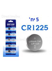 מארז 5 סוללות ליתיום CR1225 *במלאי מיידי*