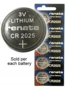 סוללה מקורית ליתיום RENATA CR2025  *במלאי מיידי*