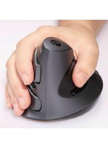 עכבר ארגונומי אנכי אורטופדי מעוצב אלחוטי למניעת כאבים בכף היד (ימין)