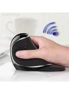 עכבר ארגונומי אנכי אורטופדי מעוצב אלחוטי למניעת כאבים בכף היד (ימין) DELUX M618 PLUS