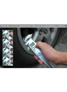 מד לחץ אוויר דיגיטלי לצמיגים עם פנס פטיש חירום וחותך חגורות בטיחות SW-8855V *במלאי מיידי*